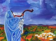 Jewish Paintings - Shofar I by Dawnstarstudios