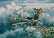 Vietnam Air War Art Metal Prints - Shoot-Out Over Saigon Metal Print by Randy Green