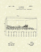 Gallery Drawings - Shooting Gallery 1924 Patent Art by Prior Art Design