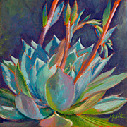 Agave Paintings - Shooting Off Rainbows by Athena Mantle