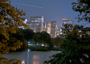 Nyc Digital Art Originals - Shooting star over Central Park by Constantin  Poselski