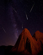 Perseid Meteor Shower Posters - Shooting Stars Poster by Jeana Childress