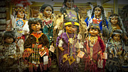 Apparel Framed Prints - Shop Display of American Indian Dolls Framed Print by Randall Nyhof
