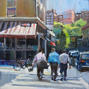 Intersection Paintings - Shop Talk by Patti Mollica