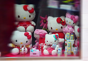 Hello Kitty Paintings - Shop Window Spain by Charles Stuart