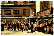 Pike Place Art - Shoppers at Pike Place Market by David Patterson