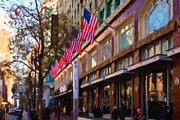 Shopping Along Market Street In San Francisco - 5d20712 Print by Wingsdomain Art and Photography