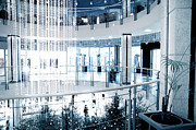 Glass Reflecting Prints - Shopping center Print by Michal Bednarek