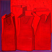 Vivian ANDERSON - Shopping In Red