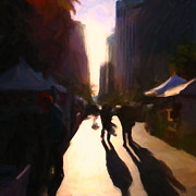 Downtowns Digital Art - Shopping Stands Along Market Street at San Franciscos Embarcadero - 5D20841 - Square by Wingsdomain Art and Photography