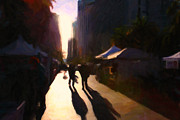 Impressionism Prints - Shopping Stands Along Market Street at San Franciscos Embarcadero - 5D20841 Print by Wingsdomain Art and Photography
