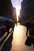 Impressionism Prints - Shopping Stands Along Market Street at San Franciscos Embarcadero - 5D20842 Print by Wingsdomain Art and Photography