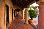 Tlaquepaque Sedona Arizona Posters - Shops and columns Poster by Jon Burch Photography