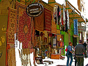 Via Dolorosa Digital Art - Shops Line the Via Dolorosa in Old Jerusalem-Israel by Ruth Hager