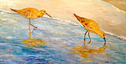 Sea Birds Paintings - Shore Patrol by Alan Lakin