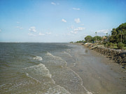 Kim Photo Framed Prints - Shoreline at St. Simons Island Framed Print by Kim Hojnacki