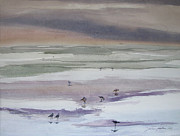 Julianne Felton Art - Shoreline Birds II by Julianne Felton