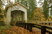 Boren Posters - Short Covered Bridge Poster by Nick  Boren