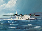 Plane Painting Framed Prints - Short Sunderland Framed Print by Richard Wheatland