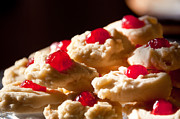 Maraschino Prints - Shortbread Cookies Print by Cheryl Baxter