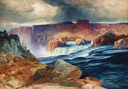 Falls Paintings - Shoshone Falls - Snake River by Pg Reproductions
