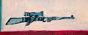 Army Paintings - SHOTGUN portrait by Fabrizio Cassetta