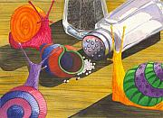 Snail Paintings - Should Have Listened by Catherine G McElroy