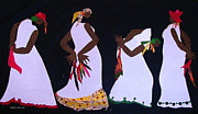 African American Tapestries - Textiles Metal Prints - Shout Dance Metal Print by Ruth Ash