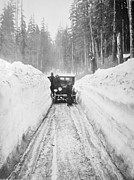 Snow Drifts Photos - Shoveling Out from a Blizzard by Mountain Dreams