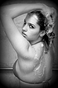 Hair-washing Photo Prints - Shower Queen Print by Weston Jannusch