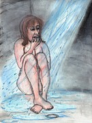 Depression Pastels - Shower Therapy by Leandria Goodman