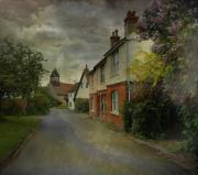 Country Cottage Digital Art Posters - Showers Poster by Fran J Scott