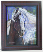 Framing Posters - showing frame on Pearlie King Poster by Denise Horne-Kaplan