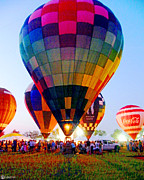 Balloon Fest Framed Prints - Showtime Framed Print by Lizi Beard-Ward