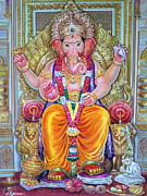 Mayur Sharma Metal Prints - Shree Ganesh  Metal Print by Mayur Sharma