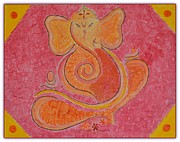 Vinayaka Paintings - Shree Ganesh by Sonali Gangane