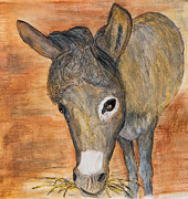 Donkey Drawings Prints - Shrek Eating Print by Sandee Johnson
