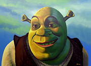 Comic. Marvel Framed Prints - Shrek Framed Print by Paul  Meijering