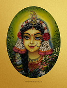 Dharma Acrylic Prints - Shrimati Radharani Acrylic Print by Vrindavan Das