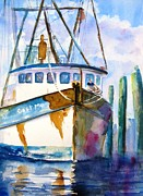 Pylon Paintings - Shrimp Boat Isra by Carlin Blahnik