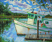 Frogmore Framed Prints - Shrimp Boat Sophia Framed Print by Dwain Ray