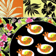 Cookbook Prints - Shrimp Deviled Eggs Print by James Temple
