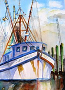 Carlin Paintings - Shrimp Fishing Boat by Carlin Blahnik