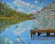 Impressionistic Oil Paintings - Shrimp Shack by Dwain Ray