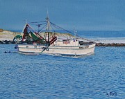 Panama City Beach Painting Prints - Shrimpboat Carol Lynn Print by Alan Mintz