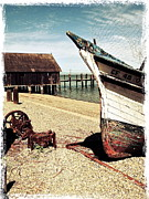 Sausalito Metal Prints - Shrimping Boat at China Camp Metal Print by Amy Fearn
