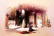 Shrine Of The Nativity Bethlehem April 6th 1839 Print by Munir Alawi