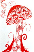 Zia Drawings - Shroomfest 2013 by Beverley Harper Tinsley