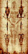 Shroud Of Turin Framed Prints - Shroud of Turin Framed Print by Jesus Christ