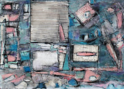 Stripes Mixed Media - Shuttered Windows by Hari Thomas